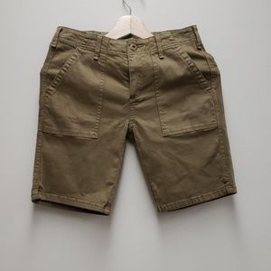 Anthropologie Olive Green  Cotton Shorts Size 26